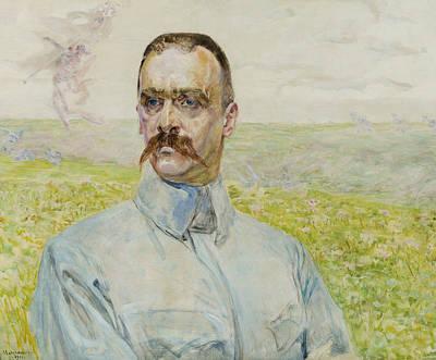 Painting - Portrait Of Brigadier Jozef Pilsudski by Jacek Malczewski