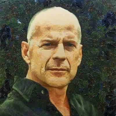 Digital Art - Portrait Of Bruce Willis by Charmaine Zoe