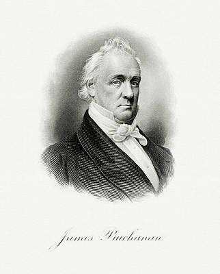 Painting - portrait of Buchanan as President by Artistic Panda