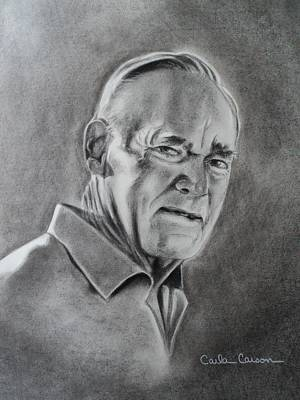 Portrait Of Bud Art Print by Carla Carson