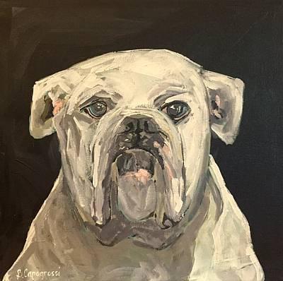 Georgia Bulldog Painting - Portrait Of Bulldog by Beth Capogrossi