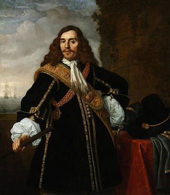Painting - Portrait Of Captain Gideon De Wildt by Bartholomeus van der Helst