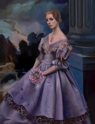 Valdes Painting - Portrait Of Carlotta by Tim Ferguson