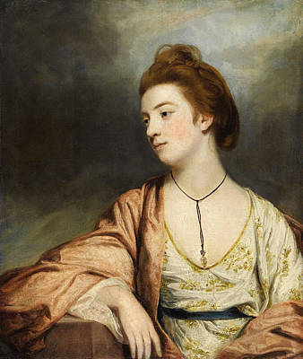Joshua Reynolds Painting - Portrait Of Caroline Cox. Lady Champneys by Sir Joshua Reynolds