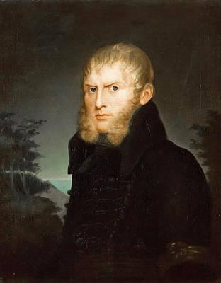 Painting - Portrait Of Caspar David Friedrich by Caroline Bardua