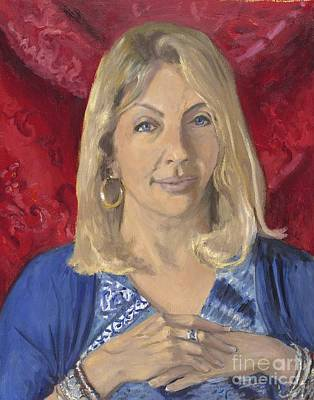 Wall Art - Painting - Portrait Of Cathy by Katherine Farrell