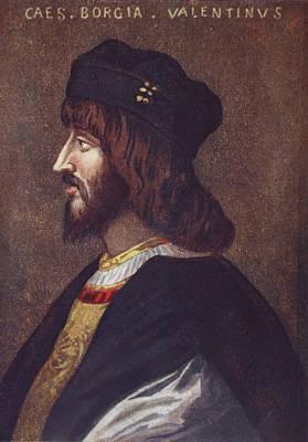 Portrait Of Cesare Borgia, 1475 Or 1476 Art Print by Vintage Design Pics