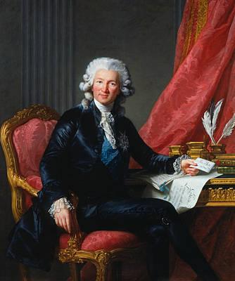 Portrait Of Charles-alexandre De Calonne Art Print