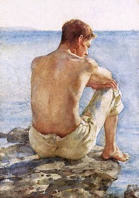 Painting - Portrait Of Charlie Mitchell by Henry Scott Tuke