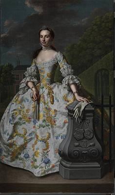 Portrait Of Charlotte Beatrix Strick Van Linschoten Art Print by Mattheus Verheyden