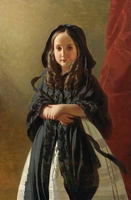 Portrait Of Charlotte Art Print by Franz Xaver Winterhalter