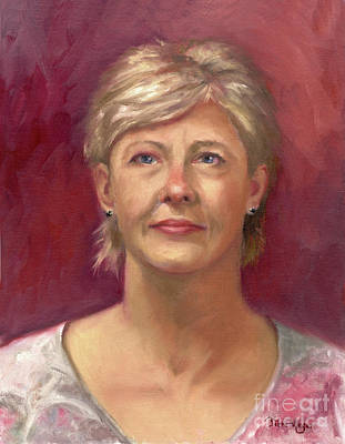 Portrait Of Cheryl Art Print by Terri  Meyer
