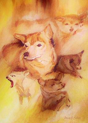 Painting - Portrait Of Chi Chi by Denise F Fulmer