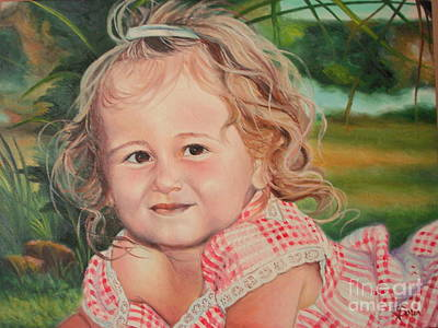 Art Print featuring the painting Portrait Of Child by Sorin Apostolescu