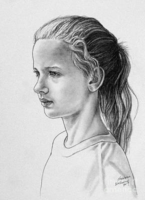 Drawing - Portrait Of Chloe by Christopher Shellhammer