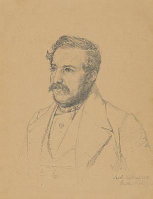 Drawing - Portrait Of Christophe Louis Engelhard Dalgas by Christen Kobke