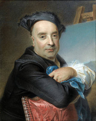 Maurice Quentin De La Tour Drawing - Portrait Of Claude Dupouch by Attributed to Maurice Quentin de La Tour