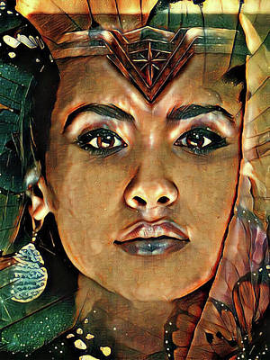 Digital Art - Portrait Of Cleopatra by Kathy Kelly