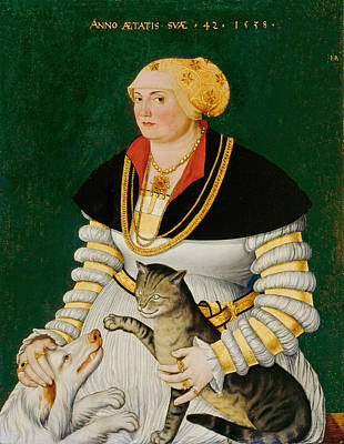 Painting - Portrait Of Cleophea Krieg Von Bellikon by Hans Asper