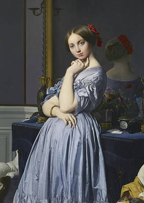 Ingres Painting - Portrait Of Comtesse D'haussonville by Jean-Auguste-Dominique Ingres