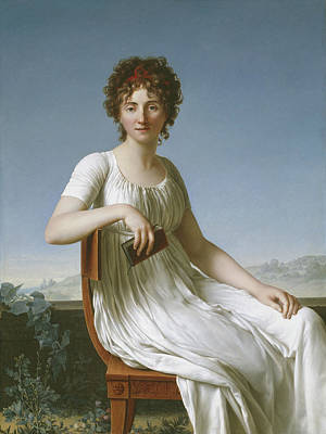 Curly Hair Painting - Portrait Of Constance Pipelet by Jean Baptiste Francois Desoria