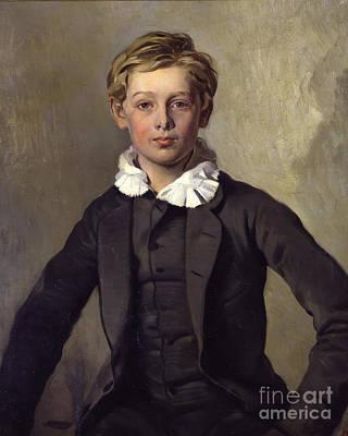 Boy Portrait Painting - Portrait Of Count Haubold Von Einsiedel by Celestial Images