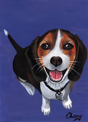 Painting - Portrait Of A Dachshund by Long Studios
