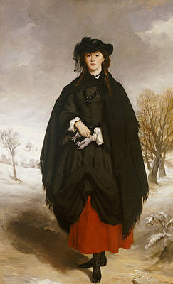 Shawl Painting - Portrait Of Daisy Grant by Francis Grant