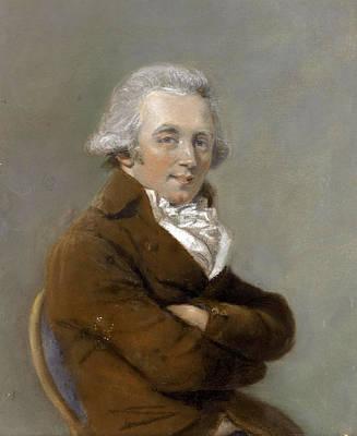 Drawing - Portrait Of Daniel Gardner by John Raphael Smith