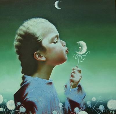 Portrait Of Daughter Art Print by Andrej Vystropov