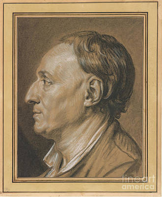 Portrait Of Denis Diderot  Art Print by MotionAge Designs