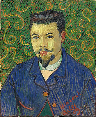 Focus On Foreground Painting - Portrait Of Doctor Felix Rey, 1889 by Vincent Van Gogh