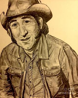 Painting - Portrait Of Don Williams by Joan-Violet Stretch