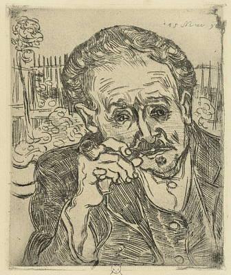 40s Painting - Portrait Of Dr Gachet 1890 by Vincent Van Gogh