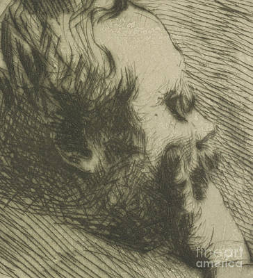 Hatching Wall Art - Drawing - Portrait Of Edgar Degas by Giuseppe Nittis