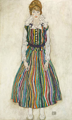 Painting - Portrait Of Edith by Egon Schiele