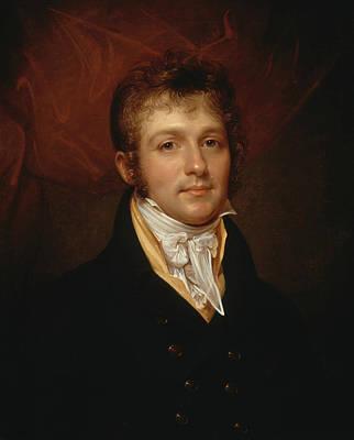 Portrait Of Edward Shippen Burd Of Philadelphia Art Print by Rembrandt Peale