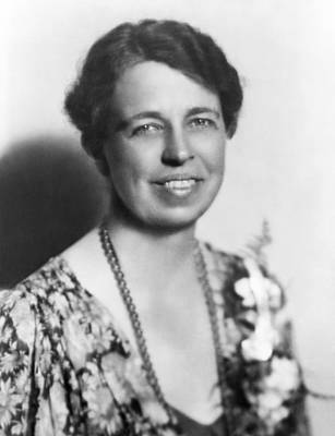 One Person Only Photograph - Portrait Of Eleanor Roosevelt by Underwood Archives