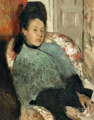 Of Edgar Degas Photograph - Portrait Of Elena Carafa, By Edgar Degas, Circa 1875,  National  by Peter Barritt