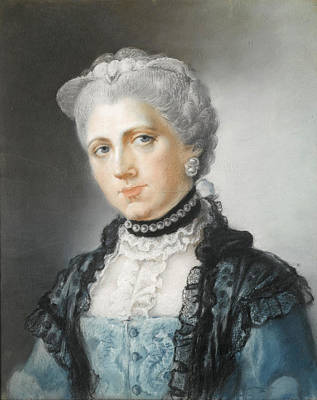 Drawing - Portrait Of Elizabeth Countess Of Waldegrave by Diana Beauclerk