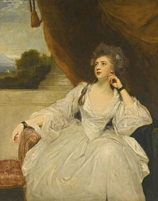 Joshua Reynolds Painting - Portrait Of Elizabeth Falconer Mrs. Stanhope As Contemplation by Joshua Reynolds