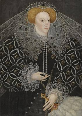 English School Painting - Portrait Of Elizabeth I by Celestial Images