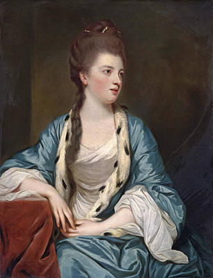 Joshua Reynolds Painting - Portrait Of Elizabeth Kerr Marchioness Of Lothian by Sir Joshua Reynolds