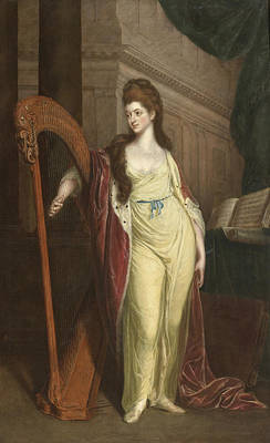 Painting - Portrait Of Elizabeth Lady Craven Later Margravine Of Anspach by Thomas Beach