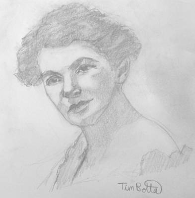 Portrait Of Ella Wheeler Wilcox Art Print by Tim Botta