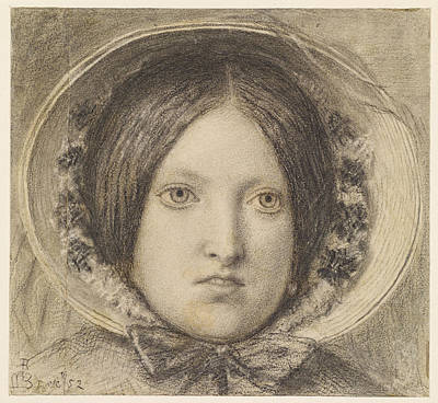 Drawing - Portrait Of Emma Hill by Ford Madox Brown