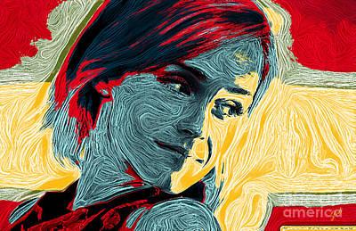 Digital Art - Portrait Of Emma Watson by Zedi