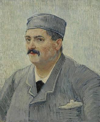 Painting - Portrait Of Etienne Lucien Martin Paris November 1887 Vincent Van Gogh 1853  1890 by Artistic Panda