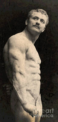 Nude Photograph - Portrait Of Eugen Sandow by English School