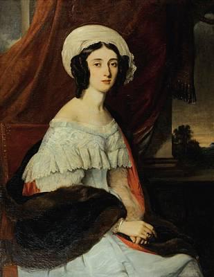 Rivets Painting - Portrait Of Eugnie Gabrielle Barbou by Alexandre